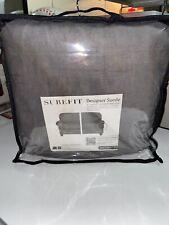 Sure Fit Designer Suede 2 Cushion Sofa Slipcover - Gray