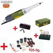 Proxxon micromot multi herramienta largo cuello bohrschleifer lbs/e + 105 piezas de accesorios