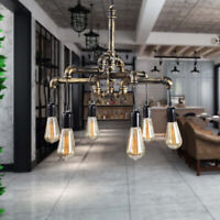 Industrial Vintage Pendant Water Pipe Lamp Steampunk Ceiling Chandelier Light US