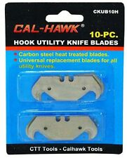 10 pc Hook Utility Knife Razor Box Carpet Linoleum Cutter Blade