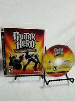 Guitar Hero World Tour PS3 Game w/ Manual