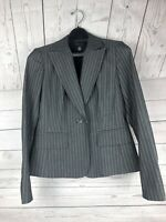 KENNETH COLE NEW YORK WOMANS BLAZER JACKET SIZE 6 Gray/tan striped