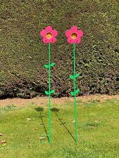 Grumpy Gardener Nutpecker Set Of 2 Flower Feeders And 2 Jars (pink)