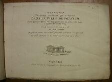 PAESTUM, PESTO, 34 ANSICHTEN AUF 10 KUPFERTAFELN, NEAPEL, NICOLAS GERVASI ~1801