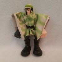 "2004 Luke Skywalker 6"" figure Force Battler Jedi & cloak helmet Star Wars Hasbro"