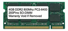 4GB DDR2 800 MHz PC2-6400 Sodimm Memory for IBM Lenovo HP Dell Laptop Apple