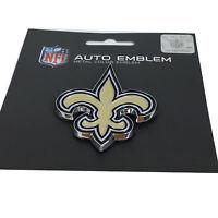 New NFL New Orleans Saints Auto Car Truck Heavy Duty Metal Color Emblem