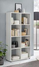 Wilmes: Raumteiler mit 8 Fächer - Bücherregal Standregal Wohnzimmerregal - Weiß