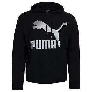 Puma Womens Classic Metallic Logo Hoodie Graphic Jumper 579056 01