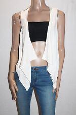 He doesn't know why? Brand White Lace Back Vest Size 6-XXS BNWT #SL15