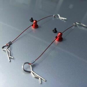 RC Anti-Lost Karosserieklammern Seil 110mm Schraubfixierung Modellbau Body Clip