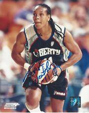 TERESA WEATHERSPOON AUTOGRAPHED 8x10 WNBA LOGO PHOTOGRAPH AUTHENTIC NY LIBERTY