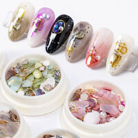 Epoxidharz Pailletten Shell Pearl Mixed Filling Material DIY Kunst Nagelzubehör