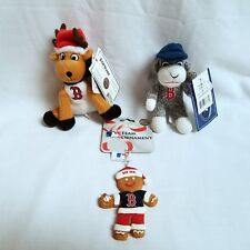 Boston Red Sox MLB Christmas Ornament LOT 3 Gingerbread Man Sock Monkey Reindeer