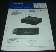 Einbauanleitung Volvo 760 Verstärker Amplifier Vahvistin Förstärkare 02/1982!