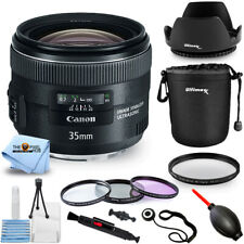 Canon EF 35mm f/2.0 IS USM Standard Prime Lens 5178B002 - Filter Kit Bundle