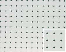 Dollhouse Building Supplies Diamond, 11X16, Green Flooring FF60646