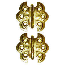 H546BP Brass Plated Steel Ornamental Butterfly Hinges With Screws, Sold in Pairs