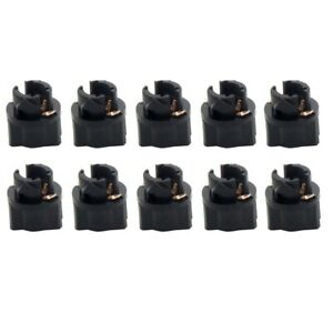 10pcs T5 Instrument Cluster Dash LED Bulbs Light Socket Holder Base Ford Holden
