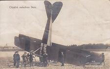 Glücklich verlaufener Sturz Sanke Karte Feldpost 1916 Armeeflugpark 13