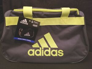 Adidas Diablo Gray Neon Yellow Small Duffel Bag Gym Bag