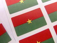 New listing Mini Sticker Pack, Self-Adhesive Burkina Faso Flag Labels, Fr87