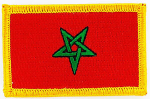 MOROCCO FLAG PATCH PATCHES BADGE IRON ON NEW EMBROIDERED