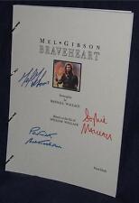 Movie Script - Cast Signed - Braveheart - Mel Gibson