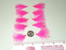 HAND TIED MARABOU MICRO JIGS TROUT 1/100 oz. HOT PINK