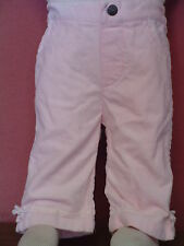 Baby Girl Baby Togs Size 3-6 Mo Pink Velour pants EUC