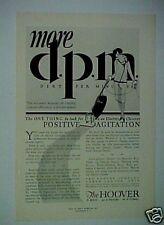 1928 Hoover Vacuum Sweeper Household Appliance Vintage AD