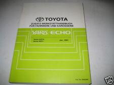 Manuale D'Officina Toyota Yaris / Eco Corpo Ammortizzatori, Stand 01/2001