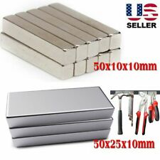 Lots Magnets Super Strong N52 Neodymium Large Block Magnet Rare Earth Long 50cm