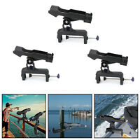 Adjustable Boat Fishing Pole Rod Holder Clamp-on Rail 4.7inches for Kayak UA