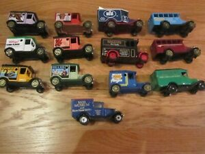 18 vintage corgi yesteryear cars lot T ford lledo days gone bus advertising