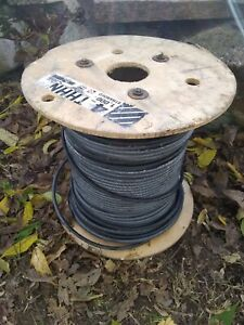 Solar 4 AWG Black ( 20 feet ) THHN THWN Copper Building Cable USA Ground Wire
