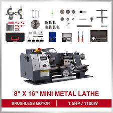 8 16 Auto Mini Metal Lathe Machine 1100w 2250 Rpm Brushless Motor Bench Top