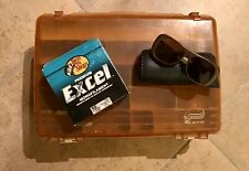 1970s Vintage Side by Side Tackle Box, Bass Pro Sunglasses And Fishing Line