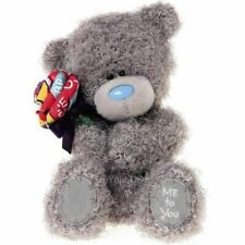 """Me to You Valentines Day 7"""" Tatty Teddy Bear Holding Rose Girlfriend Gift 18cm"""