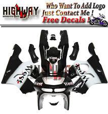 Fairings For Kawasaki ZX-6R  636 94-97 95 ABS Kit Bodywork West Black White