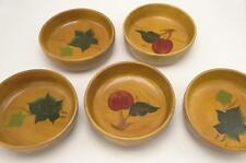 Lot Set 5 Turned Painted Wooden Bowls Salad