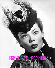 """GENE TIERNEY 8X10 Lab Photo B&W 1947 """"THE GHOST AND MRS. MUIR"""" Feather Hat"""