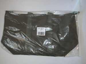 LL Bean Large Hunters Olive Drab Tote Bag - NEW 23 x 13 Open Top