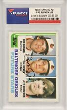 Cal Ripken Jr Orioles Signed 1982 Topps Rookie #21 Card - Fanatics