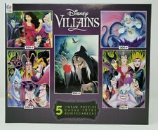 """Ceaco """"Disney Villains"""" 5-in-1 Multipack Puzzle Set - FREE SHIPPING"""