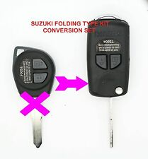 fits Suzuki Swift Igins Grand Vitara 2 Button CONVERSION Flip Remote Key Fob