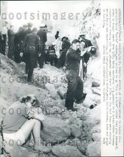 1960 Tragic Mother Cries Firemen Try to Revive Boy After Cave In CA Press Photo