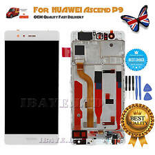 for Huawei P9 Eva-l09 L19 LCD Display Touch Screen Digitizer Assembl Frame White