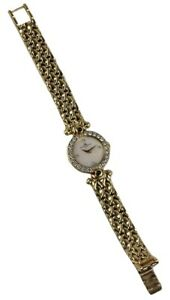 Vintage BAUME MERCIER Geneve Swiss 18k Gold Diamonds Ladies Watch Just Serviced!