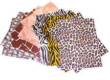 A4+ ANIMAL PRINT FELT SHEETS: 12 SHEETS, 6 DESIGNS